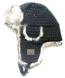 Chaos Men's Muscle Wool Blend Trapper Hat - Green Plaid - Size: One Size