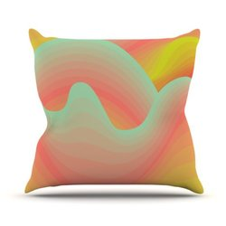 "Kess InHouse Akwaflorell ""Way of The Waves"" Outdoor Throw Pillow - 20x20"""