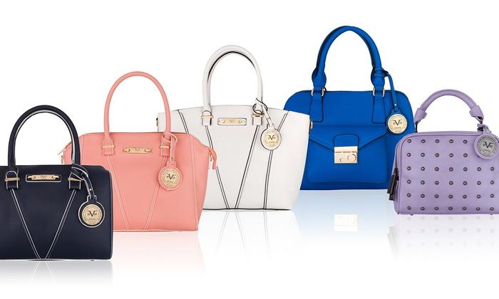 Versace V1969 Italia Charlotte Duffle Handbag - White - Check Back ... 9120a8d8c33c4