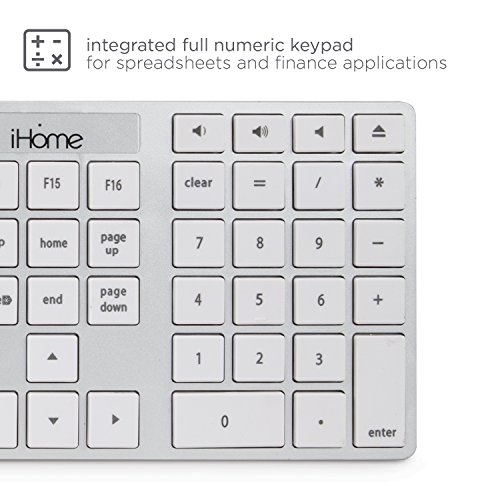 ihome wired full size mac keyboard for apple ios mac imac windows desktop pc laptop imac k121s. Black Bedroom Furniture Sets. Home Design Ideas