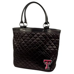 Little Earth Women's NCAA Texas Tech Red Raiders Quilted Tote Bag - Black