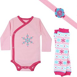 Judanzy Baby Girl's Gift Box Outfit Set - Snowy Charlotte - Size: 0-3 M