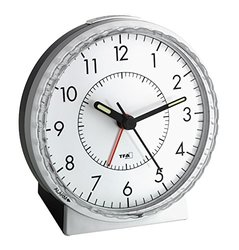 La Crosse 60.1010 Silent Sweep Analog Alarm Clock with Loud Bell Alarm