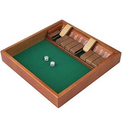 Trademark Games Zero Out Shut The Box (Game With 2 Dice