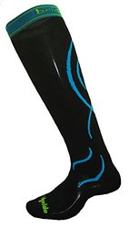 Bridgedale Compression Ski Socks, Medium, Black/Blue