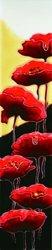 """Poppies- Decorative Ceramic Art Tile - 3""""x16"""" En Vogue"""