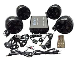 Shark Shkc6800 1000w 4ch Motorcycle Snowmobile Audio System - Black