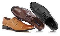 Adolfo Euro Men's Oxfords Shoes - Tan - Size: 8.5
