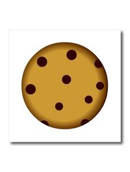 """ht_43214_1 Large Chocolate Chip Cookie Cartoon Iron on Heat Transfer, 8 by 8"""""""