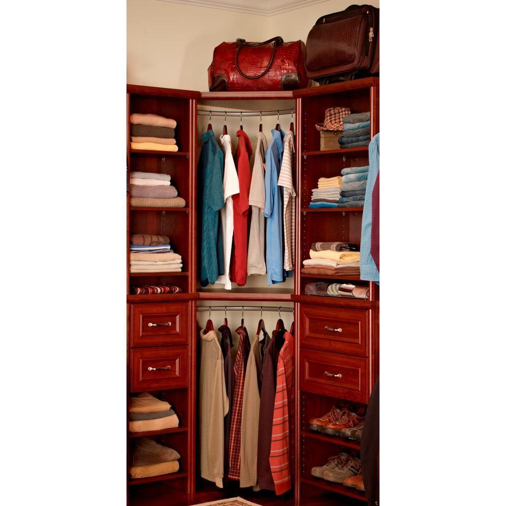 7adf371138e2 ClosetMaid Impressions 23 in. Nickel Corner Rounder Closet Rod (30710) -  Check Back Soon - BLINQ