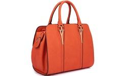 Dasein Marlon Satchel Handbag - Orange - Size: Medium