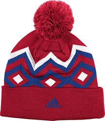 Adidas MLS Fc Dallas Men's Cuffed Knit Hat with Pom - Red - Size: One Size