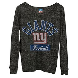 Junk Food NFL Women's Field Goal Long Sleeve Tee - Grey - Size: Large