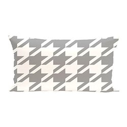 E By Design Houndstooth Geometric Print Cushion - Classic Grey - Size: One