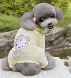 Soft Velvet Cute Monkey Sweater - Yellow - Size: X-Large