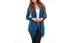 Women's Draped Hacci Cardigans Multi-tone 2-Packs - Grey - Size: M