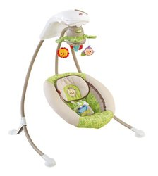 Fisher-Price Rainforest Friends Deluxe Cradle N' Swing (X7340)