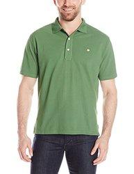 Mountain Khakis Men's Bison Polo Shirt, Evergreen, Medium