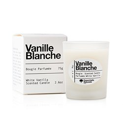 Essentialia Naturals - Scented Vanilla Luxury White Candle - Natural Soy Candle - Made in France By Master Perfumers in Grasse
