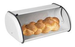 Home Basics Bread Box, White Stainless Steel