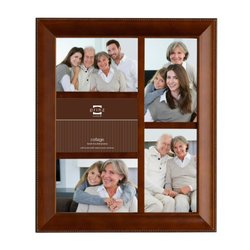 Prinz Mandalay 5-Opening Dark Walnut Wood Collage Frame for 4-Inch by 6-Inch Photos