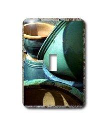 3dRose LLC lsp_17185_1 Pottery On Stone Single Toggle Switch