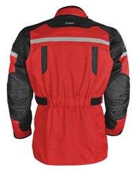 Pilot Men's Trans.Urban Motorcycle Touring Jacket (Red/Black, X-Small)
