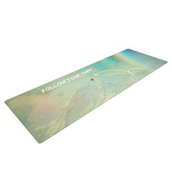 "Kess InHouse Robin Dickinson ""Follow Your Own Arrow"" Yoga Exercise Mat - City Landscape"