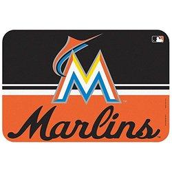 "WinCraft MLB Miami Marlins Mat - Black/Orange - Size: 20x30"""