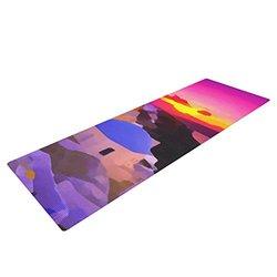 "Kess InHouse Oriana Cordero ""My Konos"" Yoga Exercise Mat - Pink/Sunset"