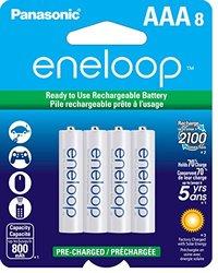 "Panasonic Eneloop ""AAA"" 00 mAh Rechargeable Ni-MH Battery (Pack) 8"