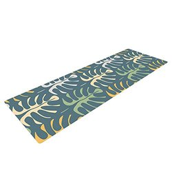 Kess InHouse Julia Grifol Yoga Exercise Mat - Blue