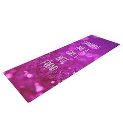 Kess InHouse Beth Engel Yoga Exercise Mat - Purple Glitter - 72 x 24-Inch