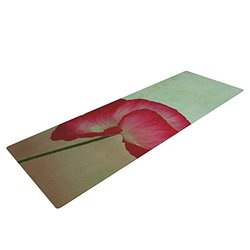 "Kess InHouse Robin Dickinson ""La Te Da"" Yoga Exercise Mat - Magenta Poppies"