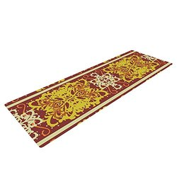 Kess InHouse Mydeas Yoga Exercise Mat - Yellow/Red - 72 x 24-Inch