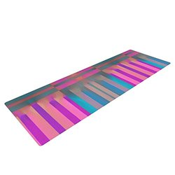 "Kess InHouse Nina May ""Tracking"" Yoga Exercise Mat - Stripes - 72 x 24"""