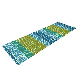 "Kess InHouse Nina May ""Ocean Splatter"" Yoga Exercise Mat - Blue/Teal"