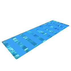Kess InHouse Rosie Brown Yoga Mat - Aqua/Blue - 72 x 24""