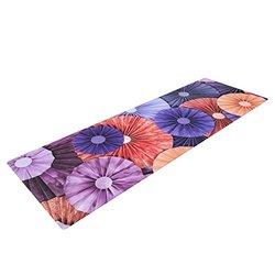 "Kess InHouse Heidi Jennings ""Raspberry Sherbert"" Yoga Exercise Mat, Purple/Blue, 72 x 24-Inch"