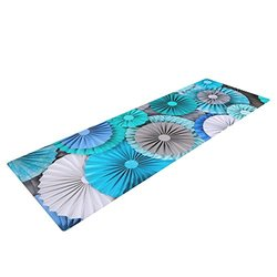 "Kess InHouse Heidi Jennings ""Brunch at Tiffany's"" Yoga Exercise Mat, Aqua/Blue, 72 x 24-Inch"