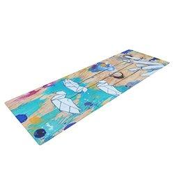 Kess InHouse Kira Crees Yoga Exercise Mat, Origami Strings, 72 x 24-Inch
