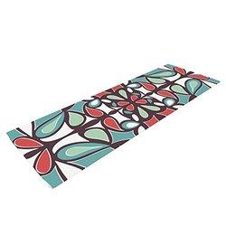 Kess InHouse Miranda Mol Yoga Exercise Mat, Brown Round Tiles, 72 x 24-Inch