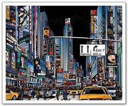 JP London POS2259 uStrip Peel and Stick Wall Decal Sticker Mural New York City Street Painted Never Sleeps, 24-Inch by 19.75-Inch