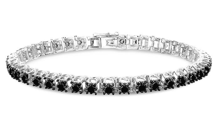 Femme Luxe 3 00 Cttw Tennis Bracelet Black Diamond