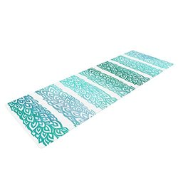 Kess InHouse Pom Graphic Design Yoga Exercise Mat - Leafs from Paradise II