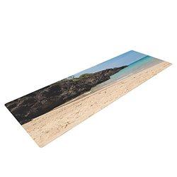 """Kess InHouse Nastasia Cook """"Hapuna Beach"""" Yoga Mat - Brown/Blue - 72 x 24"""""""