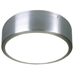 SLV Lighting Medo Flush Mount Ceiling Light - Aluminum Natural/Glass Satin