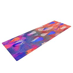 "Kess InHouse Nikki Strange ""Bindi Dreaming"" Yoga Exercise Mat - Blue/Pink"