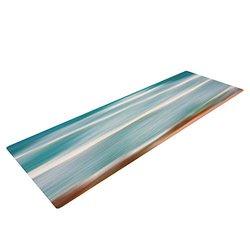 """Kess InHouse Ann Barnes """"Sun and Sea"""" Yoga Exercise Mat, Aqua Blue, 72 x 24-Inch"""