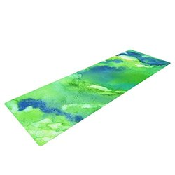 Kess InHouse Rosie Brown Yoga Exercise Mat, Touch of Blue, 72 x 24-Inch